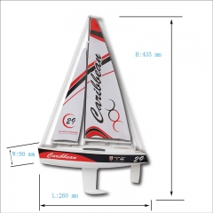 Micro Toy RC Segel Yacht Kit für Kinder Caribbean